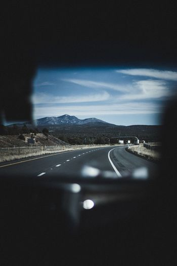 Front View Road Transportation Sky Illuminated No People Highway Nature Scenics Speed Landscape Beauty In Nature Night Outdoors Star - Space