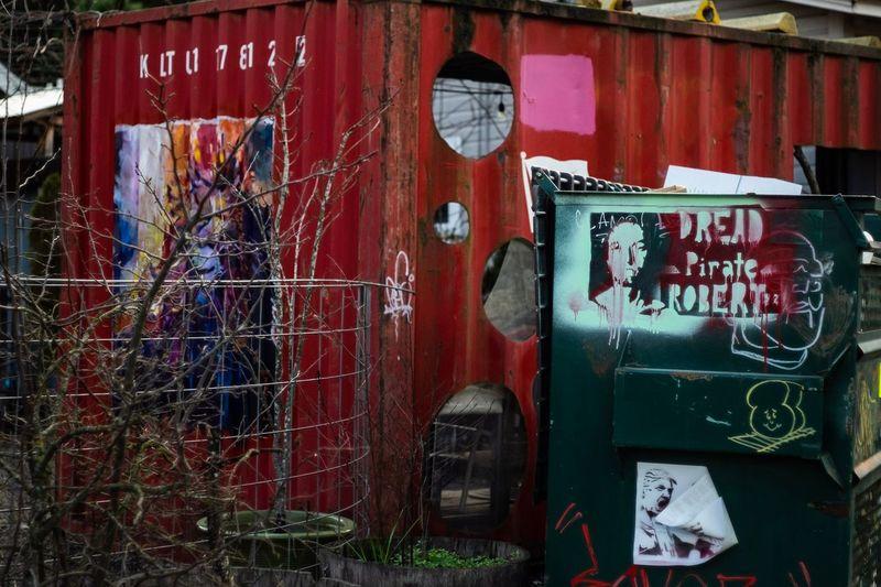 Dread Pirate Roberts Graffiti Text Architecture Built Structure Building Exterior Close-up Spray Paint Street Art Mural