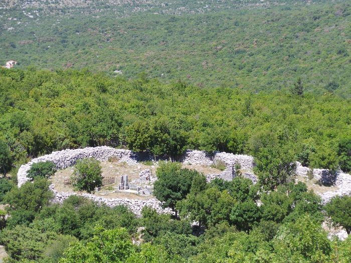 Croatia Old Graveyard Ruins Architecture Beauty In Nature Built Structure Day Green Color Growth High Angle View Landscape Ledenice Mountain Nature No People Novi Vinodolski Outdoors Ruins Architecture Scenics Tree