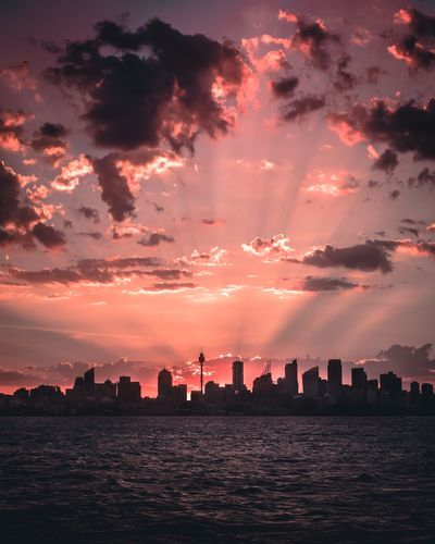 Simple things. Sunset Nature Urban Skyline Cityscape Scenics Landscape Sky Calm Water Outdoors Travel Architecture Silhouette Modern Scale