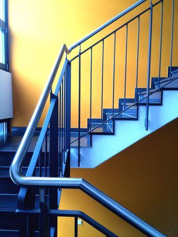 Yellow-Blue stairway Architectural Detail Architecture Abstract Stairs Stairway Dortmund Dortmund-hörde The Architect - 2018 EyeEm Awards
