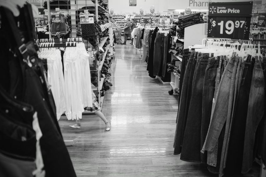 Visual Journal March 2017 Southeast Nebraska A Day In The Life A Portrait Of Life America Black & White Clothing Contemperary Department Store DIE AMERIKANERS Everyday Lives Feet Fujifilm_xseries Getty Images Indoors  People Of Wal Mart Photo Diary Photography Quick Feet Running Away Rural America Shopping Small Town Stories Store Textile Industry The Way Forward Visual Journal