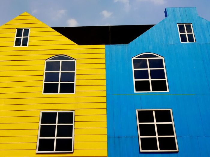 windows City Yellow Window Sky Architecture Building Exterior Built Structure Door Residential Structure Keyhole Entryway Ajar Latch Entry Open Door