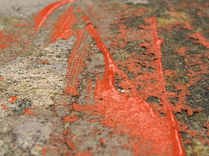 Shapes And Forms Shiny Cedered Orange Spot Abstract Dried Paint Orange Paint Orange Color Textures And Surfaces Full Frame Space For Text No People . TakeoverContrast