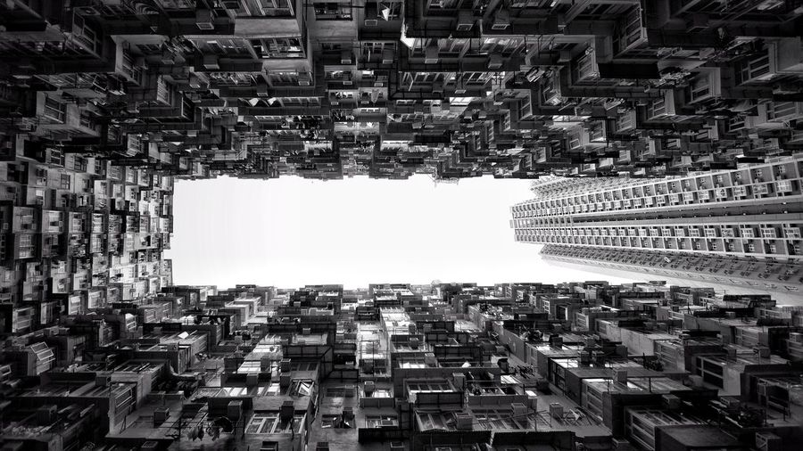 Matrix Hong Kong Buildings Black N White Photography Blackandwhite Architecture Built Structure Building Exterior City Building Sky Cityscape Crowded Residential District Tall - High Skyscraper