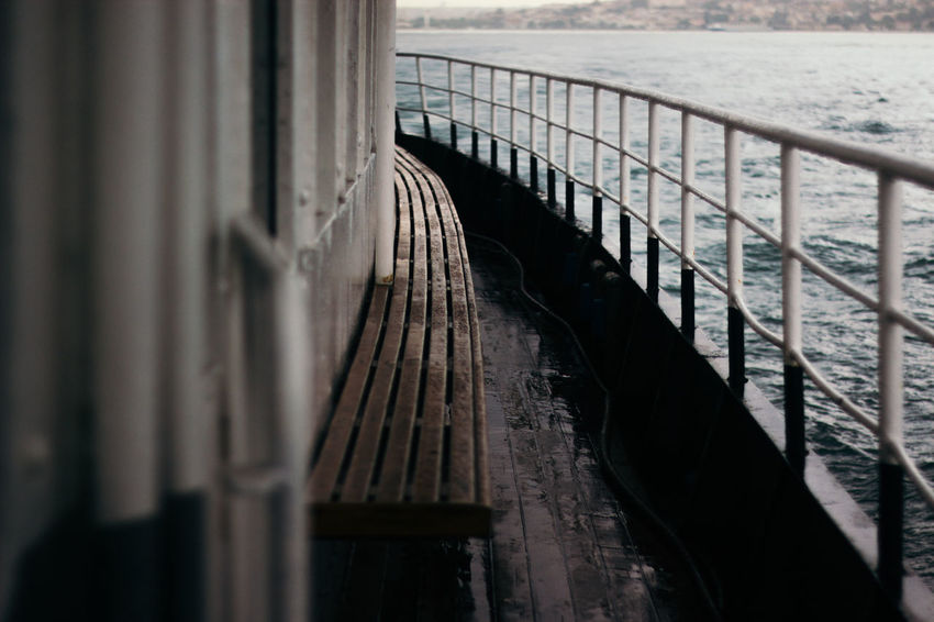Boat Canon Close-up Day Diminishing Perspective Engineering Feel The Journey Ferry Journey Nautical Vessel No People Outdoors Part Of Ship Sky The Way Forward Trip VSCO Vscofilm Wet Enjoy The New Normal