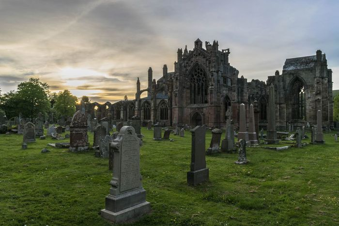 Tombstone Cemetery Architecture Architecture Church Architecture_collection Old Ruin Landscape Landscape_Collection Eye4photography  EyeEm Gallery Landscape_photography Cloud - Sky Melrose, Scottish Boarder Sunset Sunset_collection melrose abbey at sunset
