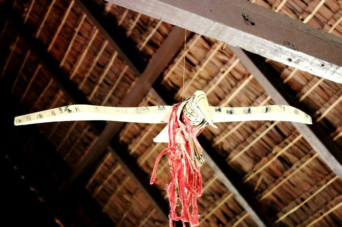 Mentawai Tribe House DecorationEyeEm Selects EyeEmNewHere House Decoration Indoors  Architecture Low Angle View Mentawai Travel Destinations Travel Ancient Civilization Hanging Beautiful Indonesia History
