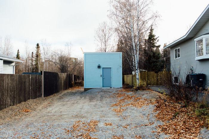 Architecture Autumn Blue Driveway Minimal Minimalism Minimalist Northern Canada Residential Structure Yellowknife