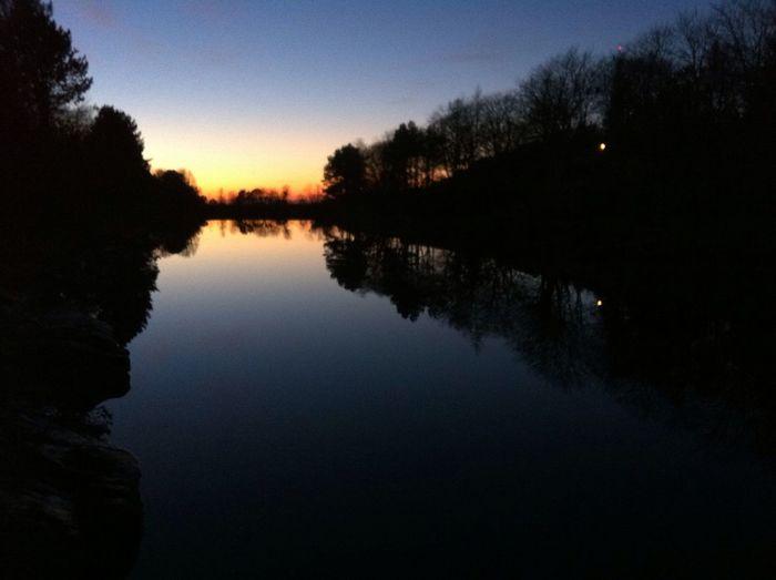 Reflection Sunset Nordic Light