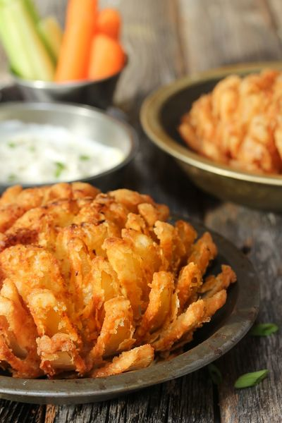 Homemade Blooming onion Blooming Onion Carnival DIP Game Day! Party Food Vegetarian Food Appetizers On Baguettes Bowl Close-up Deep Fried  Food Food And Drink Indoors  No People Plate Ready-to-eat Vegan
