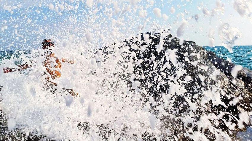 Wavygravy Waves Seaside Poutsamouola Greece GREECE ♥♥ @ Kavala In Greece  Kavala Beautiful Nature