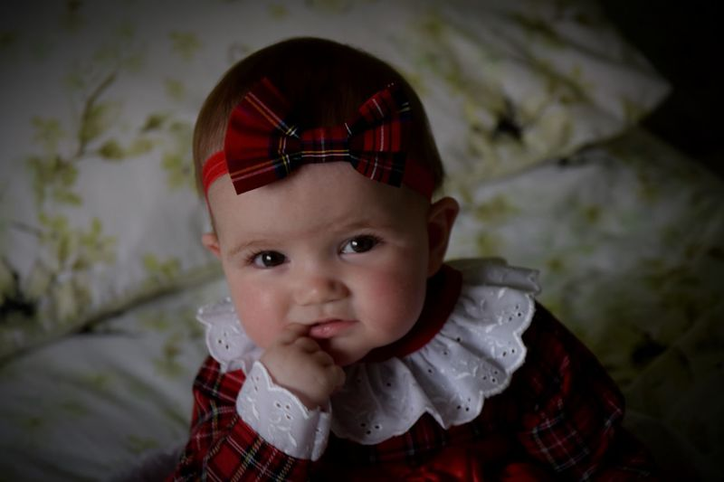 Close-up of portrait of cute baby