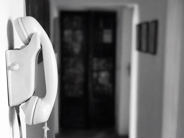 Home EyeEm Gallery Close-up Indoors  No People IPhone7Plus Answer Phone Retro Wainting For... EyeEmBestPics Black&white Day Portrait Mode