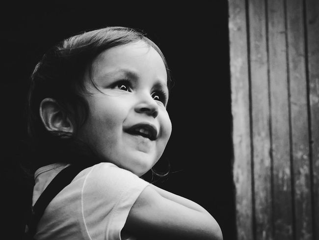 Little Girl Girl Portrait Of A Girl Portrait Of A Child Portrait Of Innocence Black And White Portrait Black & White EyeEm Best Shots - People + Portrait Shades Of Grey Everyday Emotion People And Places Monochrome Photography