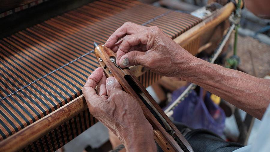 Cropped image of man working