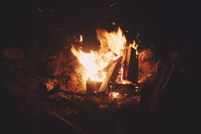 Fire Campfire Pyro Summer Nights Summer Maine