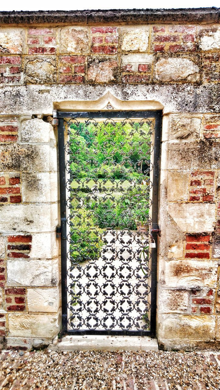architecture, built structure, day, no people, wall - building feature, wall, brick, building exterior, brick wall, building, plant, window, history, the past, outdoors, old, weathered, stone wall, nature, stone material