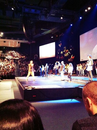 worshipping at Hillsong Convention Centre Worshipping