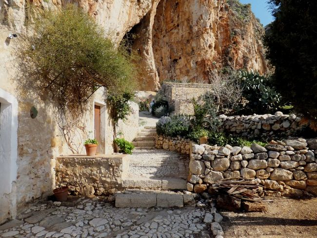 A Place To Visit Beauty In Nature Cave Photography Farmland Grotta Di Mangiapane, Sicilia I Love Sicilia Nature No People Sicilian Village Sicilianjourney Stone Houses  Tranquility Travel Destinations
