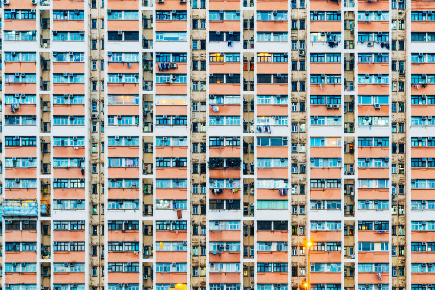 Apartment Architecture Backgrounds Building Exterior Built Structure City Day Full Frame In A Row No People Outdoors Repetition Residential  Window
