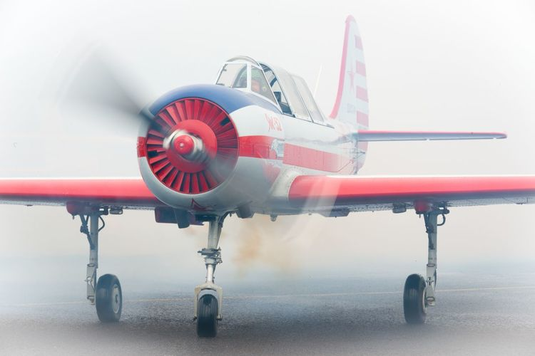 Smoke on Smoke Yak Yak 52 Aerospace Industry Air Vehicle Airplane Airport Airport Runway Close-up Commercial Airplane Day Flying Jet Engine Mode Of Transport Model Airplane No People Outdoors Propellor Toy Transportation