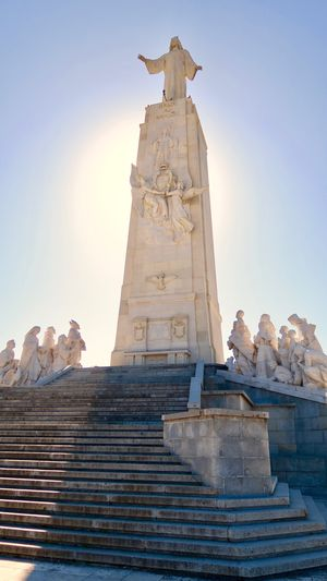 Statue Clear Sky Sculpture Travel Travel Destinations Architecture Low Angle View Outdoors Religion Clear Sky History