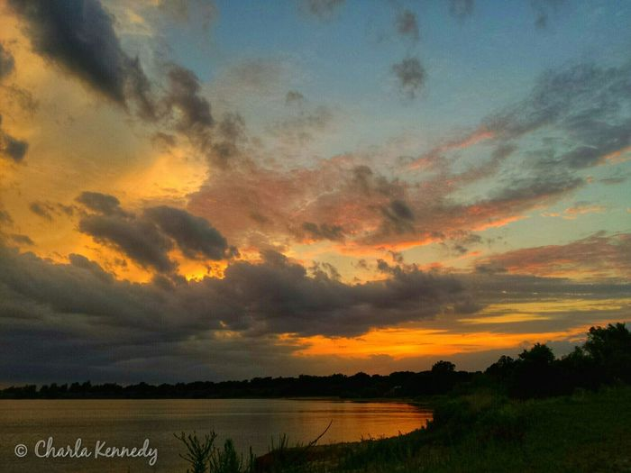 Sunset before the storm ☔? Sky_collection Oklahoma Sunset Collection FireNDaSky