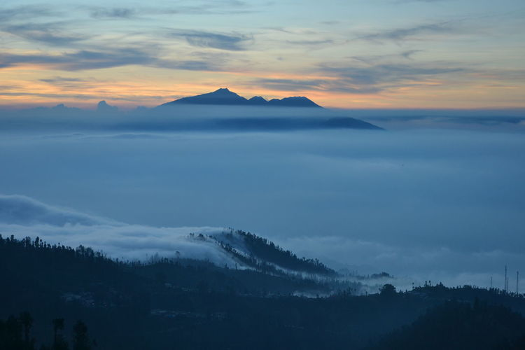 Scenic View Of Clouds Above Bromo Tengger Semeru National Park