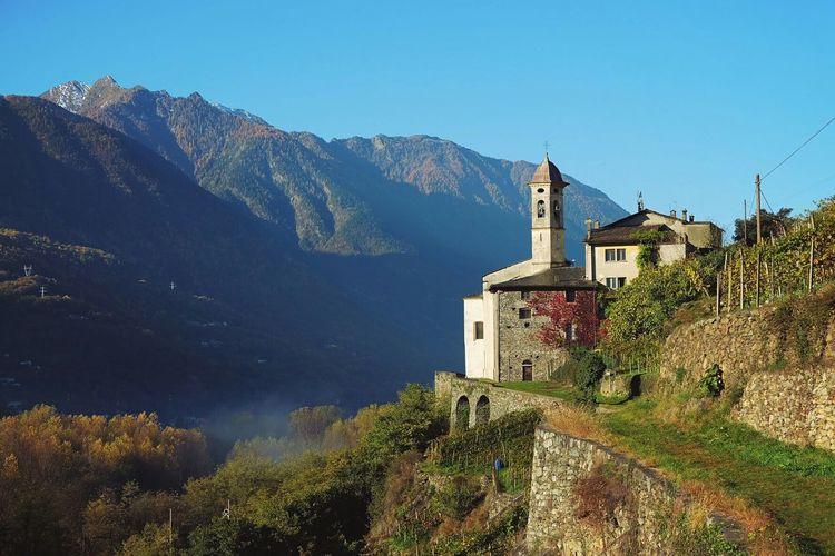 Sanctuary  Morning Light Mountains Valtellina My Town Fujifilm Fujifilm X-a2 Fujicolor Alps Autumn