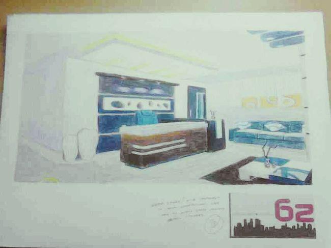 Plate interior. Medium: Colored pencil Art Paintings Interior Colorpencil