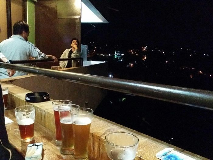 Local beers n amazing nightscape of baguio Baguio