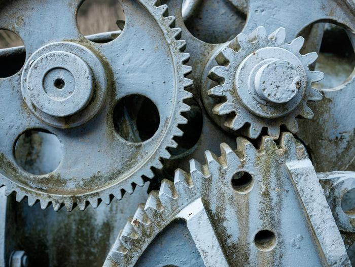 Close-up of gears in machine