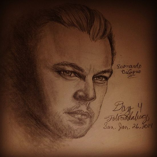 Day 4 Asketchaday In honor of Thewolfonwallstreet Leonardodicaprio  Drawing art artistlife pencildrawing