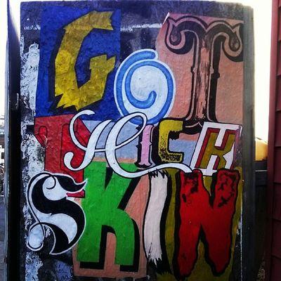 """I've got thick skin and an elastic heart.."" -Sia (art found in Williamsburg)"