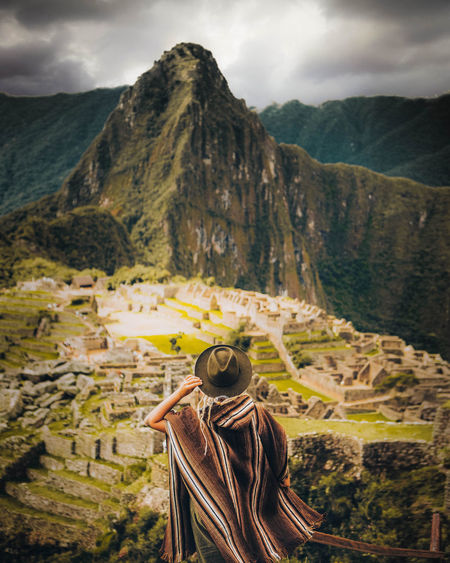Dramatic Sky Machu Picchu Nature Nature Photography Peru Travel Travel Photography Adventure Architecture Beauty In Nature Canon Canonphotography Hat Leisure Activity Mountain Mountain Range Nature One Person Outdoors Real People Scenics - Nature Sky Travel Travel Destinations Women The Traveler - 2018 EyeEm Awards The Great Outdoors - 2018 EyeEm Awards