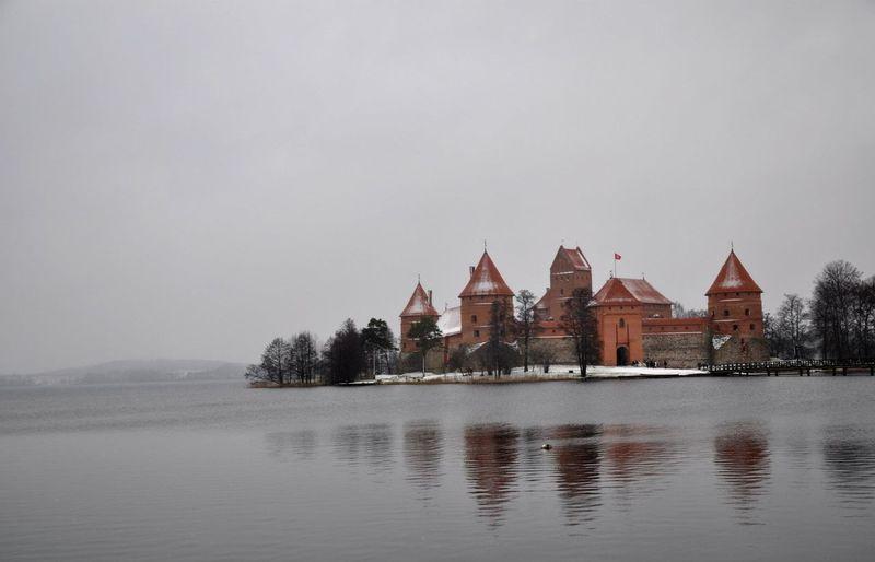 Trakai Island Castle In Water