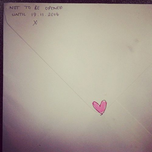 Birthday card from the cutest @poppysimpson Heart Birthday Whatacutie