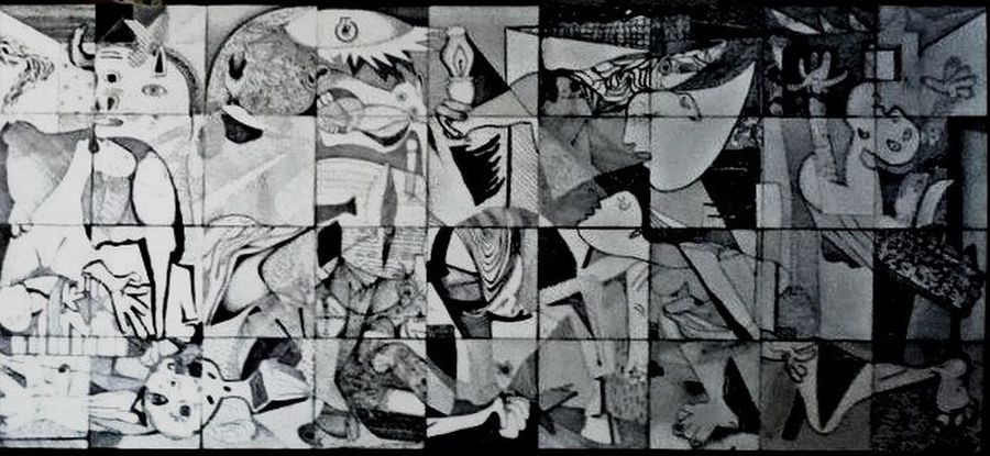 Guernica/Pablo Picasso (apropiation) Picasso Guernica Time And Space ArtWork