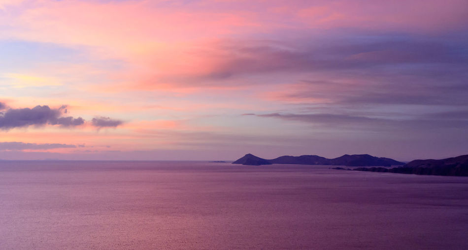 Cloud - Sky Horizon Over Water Idyllic Landscape Nature No People Outdoors Purple Scenics Sky Sunset Tranquil Scene Tranquility Water