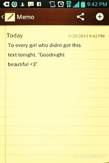 Goodnight <3 #even #if #your #not #myne
