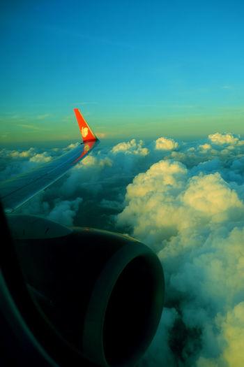 Airplane flying in sky