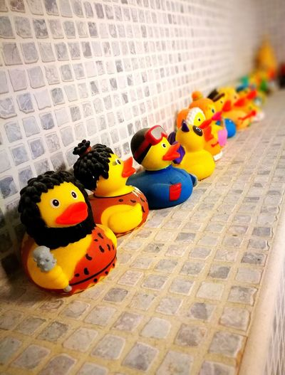 I wish you a colorful day 😀 Rubber Duck Toy Animal Representation Multi Colored Indoors  No People Childhood Stuffed Toy Day Close-up