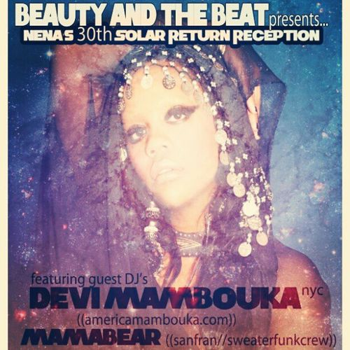 Save the date! March 6th at Beauty Bar 1444 W Chicago. I will be celebrating my 30th Solar Revolution. Guest Djs Devi Mambouka, MamaBear, Sadie Woods and Shaka23 will be throwin it down.!!!! Chitownnightlife Earthstrong Dirtythirty Djmamabear sweaterfunkcrew devimambouka sadiewoods shaka23 beautyandthebeat Wednesdays beautybar chicago @woodsadie @zazazadisco @americamambouka