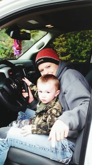 Bubbas first driving lesson! : )