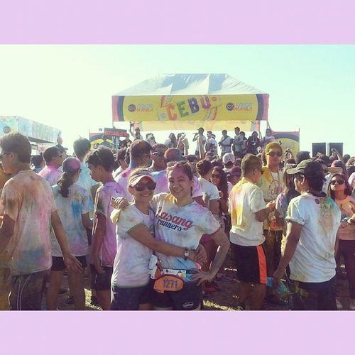 Color run Manila in Cebu. ???ColorRun Colorruncebu Colorrunmanila SquareAndroid colorful funrun runners bffs friendship