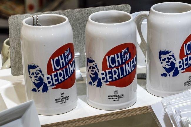 JFK Kennedy Communication Cups And Mugs Day Food And Drink No People Souvenirs Text Discover Berlin