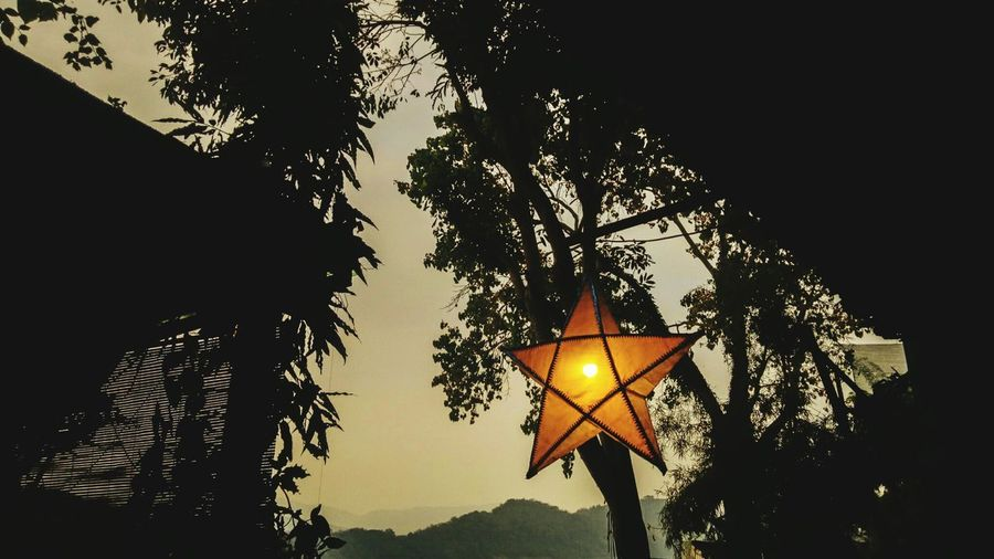 Star hanging on