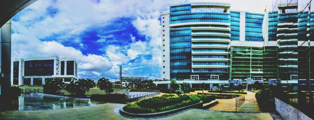 Architecture Building Exterior Built Structure Growth Day Outdoors No People Sky Office Life Office Space Office Buildings Architecture Officetime Office Building Exterior Greenery Cloud - Sky HCLTech HCL SEZ Jigani So High Office View The Architect - 2017 EyeEm Awards