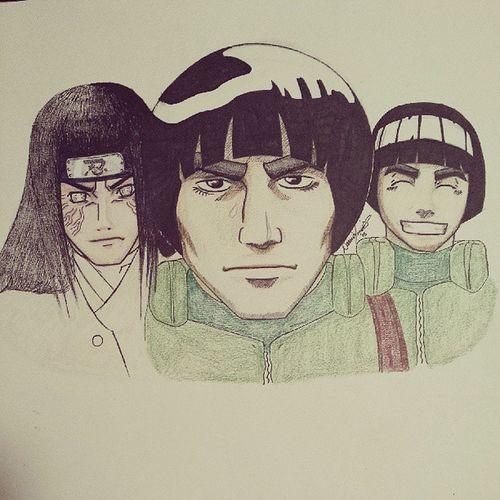Ok ok...Im done. Naruto Narutofanart Lee Rocklee MightGai gai neji hyuga hyuuga Anime manga